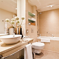 Large Bathroom | 4 Star Hotels | Accommodation | Tours In Saintpetersburg
