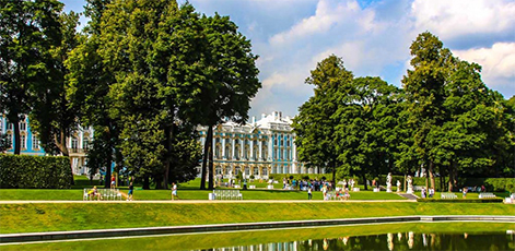 Catherine Palace, view from the Park | Catherine Palace Tour | tours | Tours In Saintpetersburg