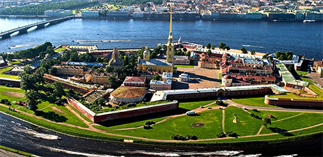 Aerial photo of the Fortress | Peter and Paul Fortress Tour | tours | Tours In Saintpetersburg